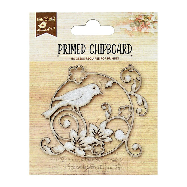 Primed Chipboard- Garden Bird, 1pc