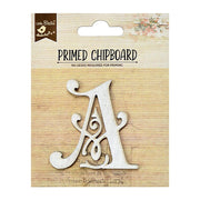 Primed Chipboard- Alphabet A, 1pc