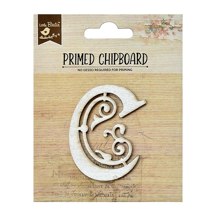 Primed Chipboard- Alphabet C, 1pc