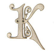 Primed Chipboard- Alphabet K, 1pc