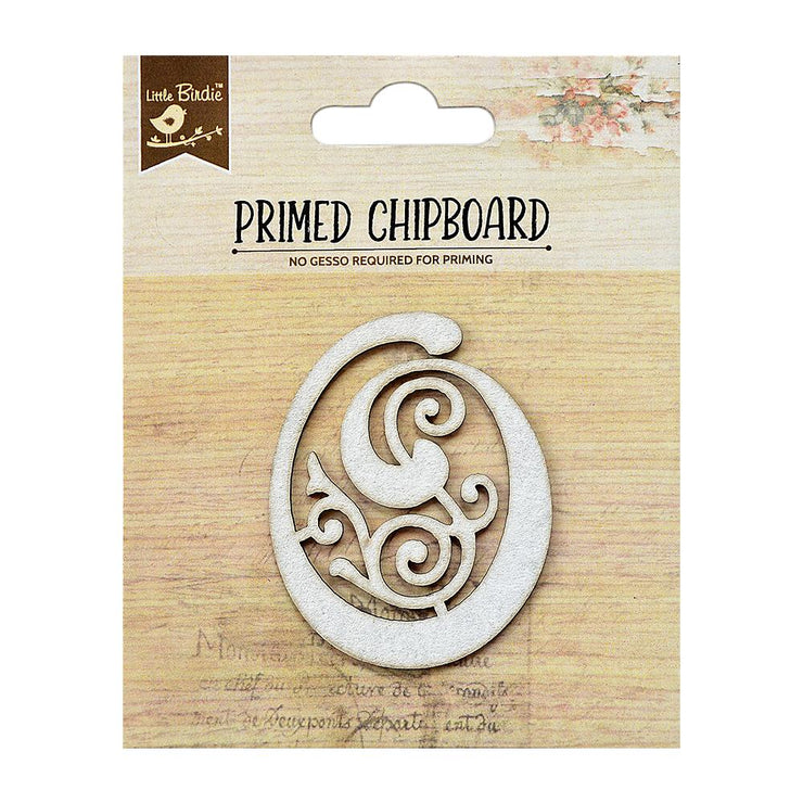 Laser Cut Ornate Chipboard - Alphabet O, 1pc