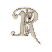 Primed Chipboard- Alphabet R, 1pc