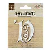 Primed Chipboard- Alphabet V, 1pc