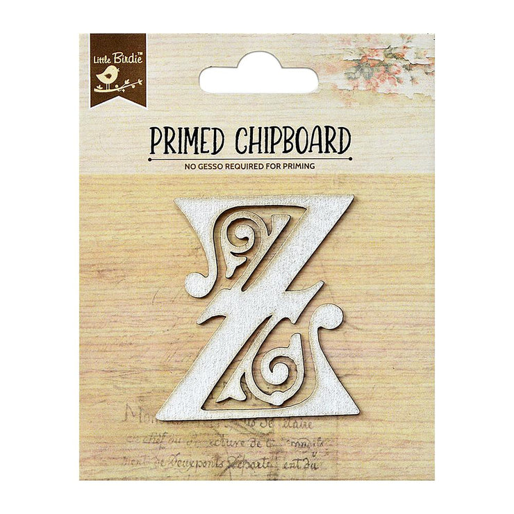 Primed Chipboard- Alphabet Z, 1pc