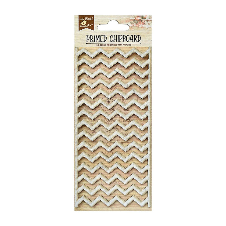 Primed Chipboard- Chevron, 1Pc