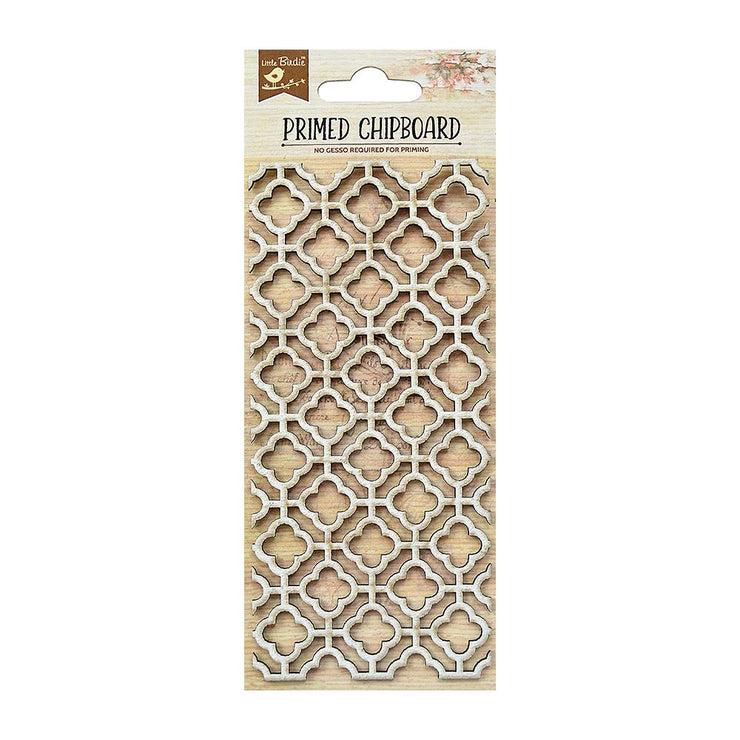 Primed Chipboard- Moroccan Design, 1Pc