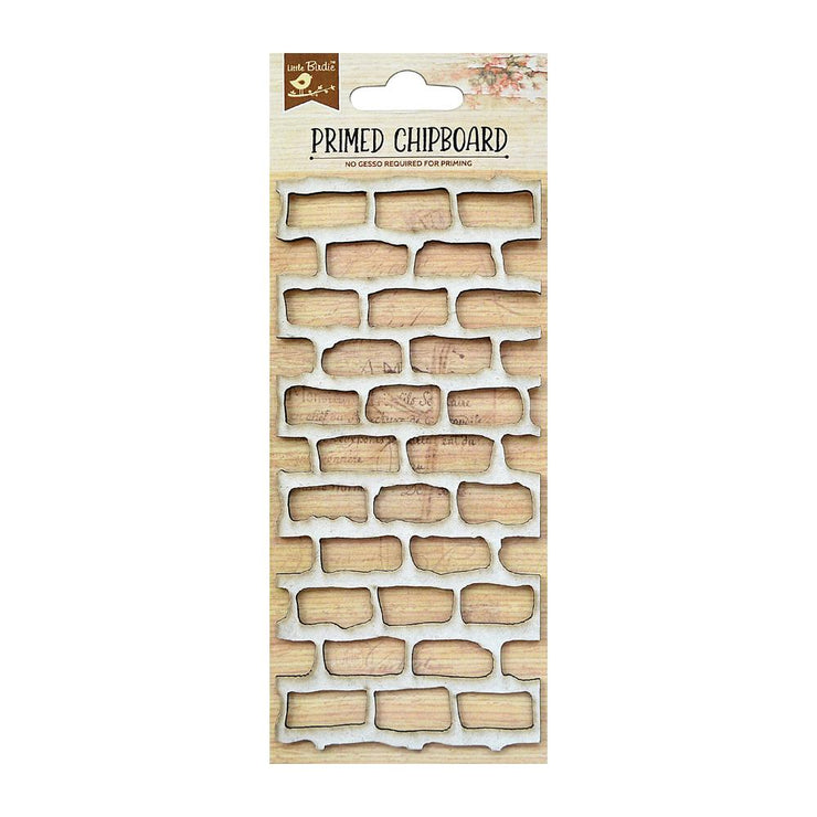Primed Chipboard- Brick Wall, 1pc