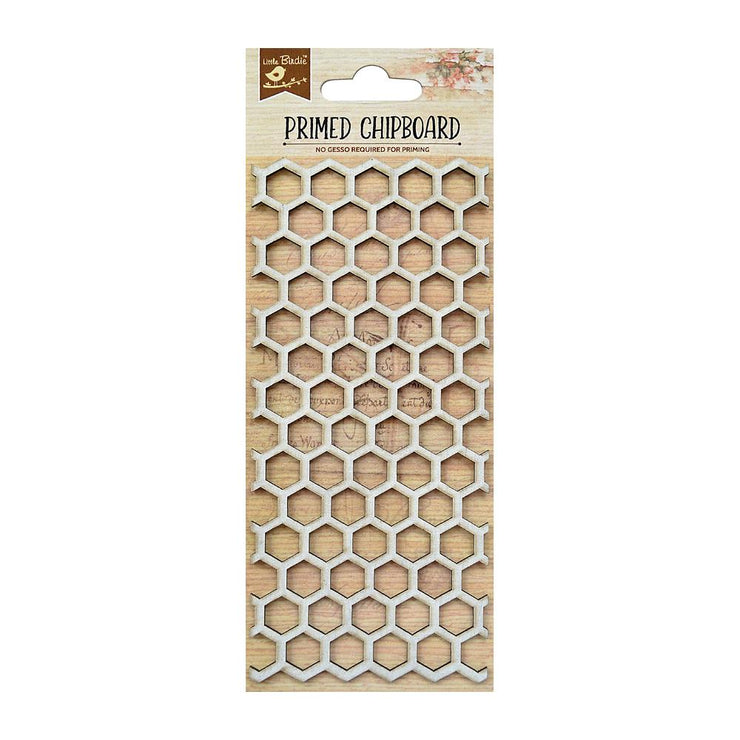 Laser Cut Primed Chipboard - Honey Comb, 1pc