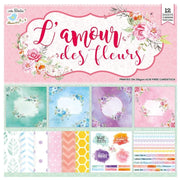 L'amour Des Fleurs - 12designs, 12in x 12in, 12sheets, 250gsm