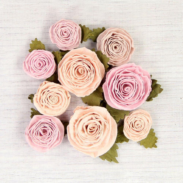 Handmade Flower Layla - Blush, 9Pc