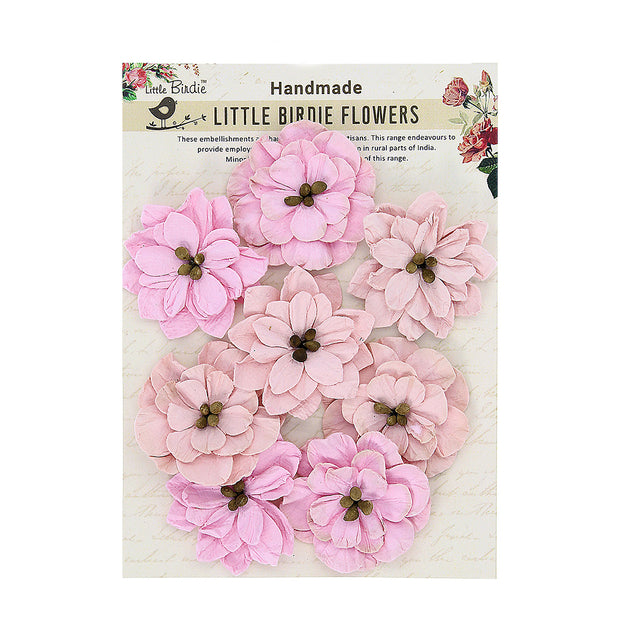 Little Birdie Handmade Flower -  Beautiful Serenade Blush 8Pc