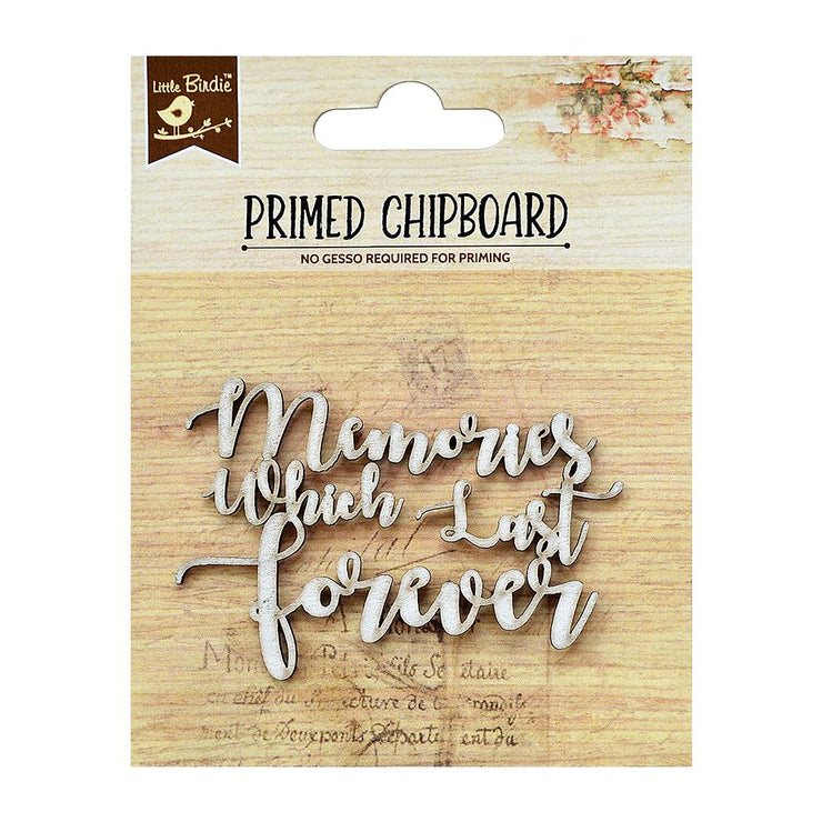 Primed Chipboard- Memories, 1Pc