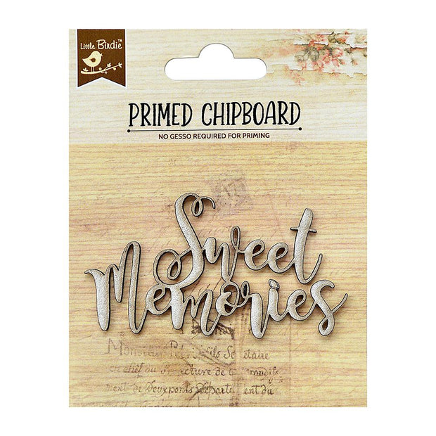 Primed Chipboard- Sweet Memories, 1Pc