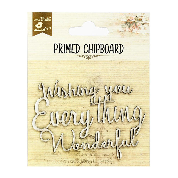 Primed Chipboard - Wishing You, 1pc