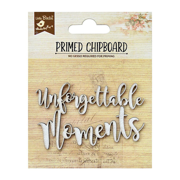 Primed Chipboard- Unforgettable Moments, 1Pc