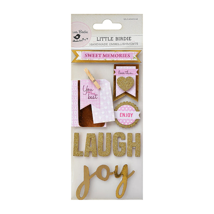 Glitter Embellishments - Joy 10Pc