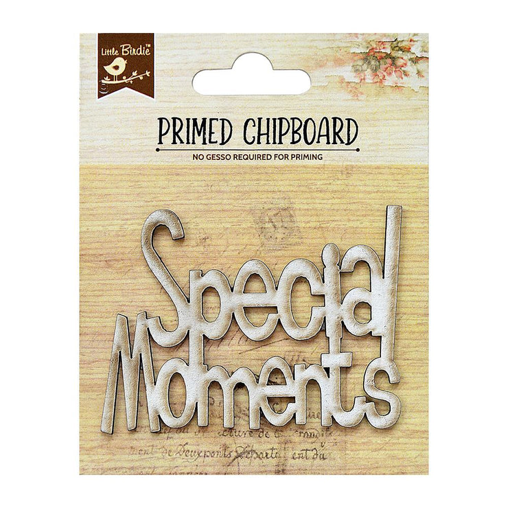 Primed Chipboard- Special Moments, 1Pc