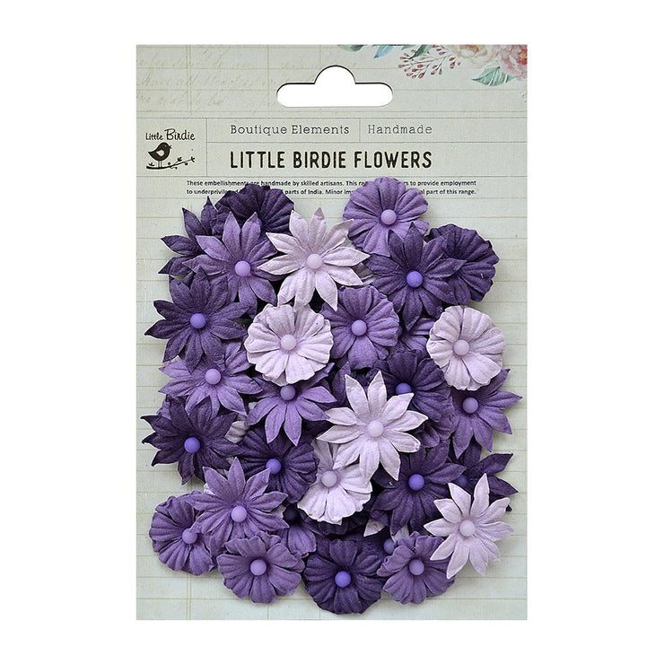 Handmade Flower Valerie - Grape Crush, 48pcs