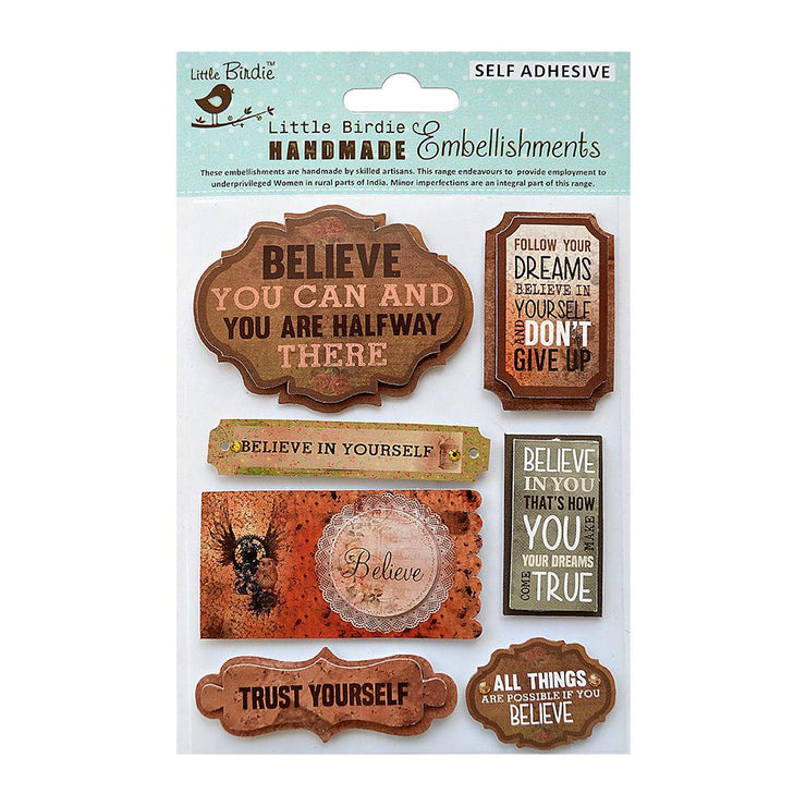 Dream &  Believe Embellishment  7Pc