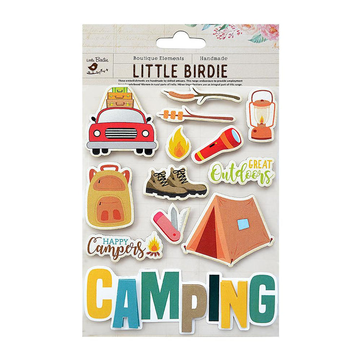 Camping Embellishments 13Pc