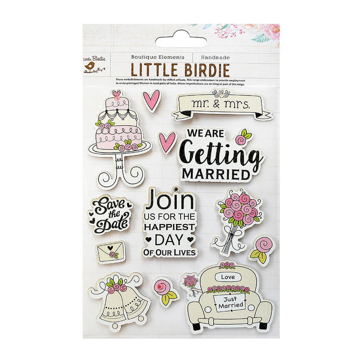 Wedding Bells Collection Embellishment - 13Pc