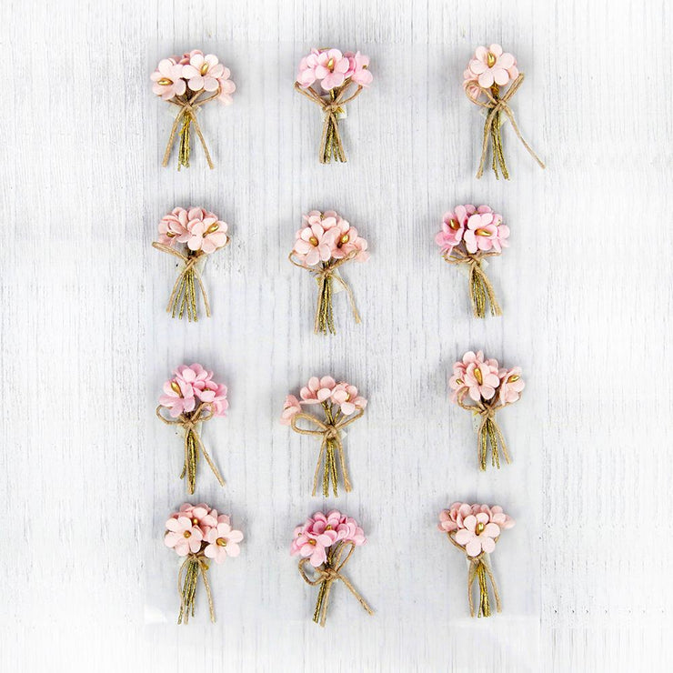 Bouquet Pearl Pink 12Pc