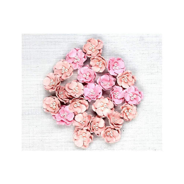 Handmade Flower Pearl Blossom- Pearl Pink, 24pcs