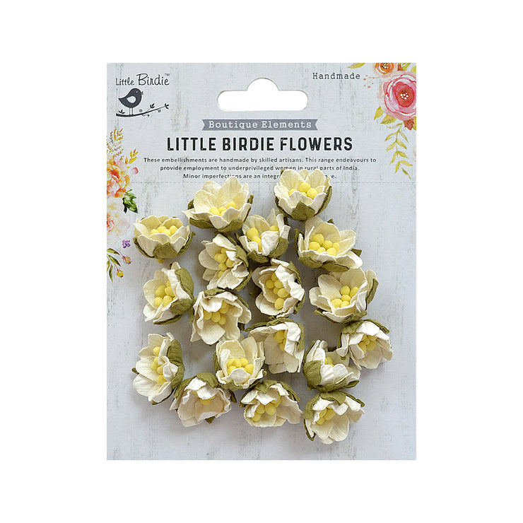 Little Birdie Handmade Flower - Butter Cup Moon Light 18Pc