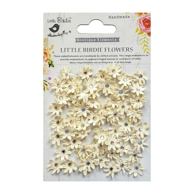 Micro Jewlled Florettes Moon Light 60Pc
