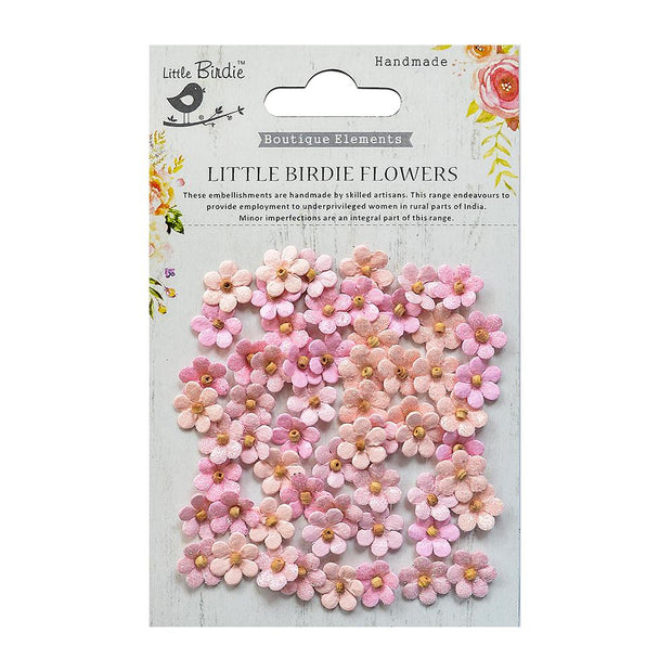 Beaded Micro Petals Pearl Pink 60Pc