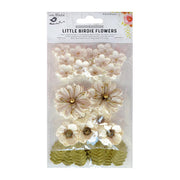 Little Birdie Handmade Flower - Renae Moon Light 27Pc