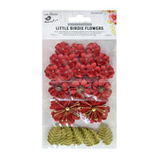 Little Birdie Handmade Flower -  Renae Sangria 27Pc
