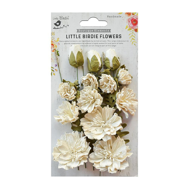 Little Birdie Handmade Flower - Natalie Moon Light 20Pc