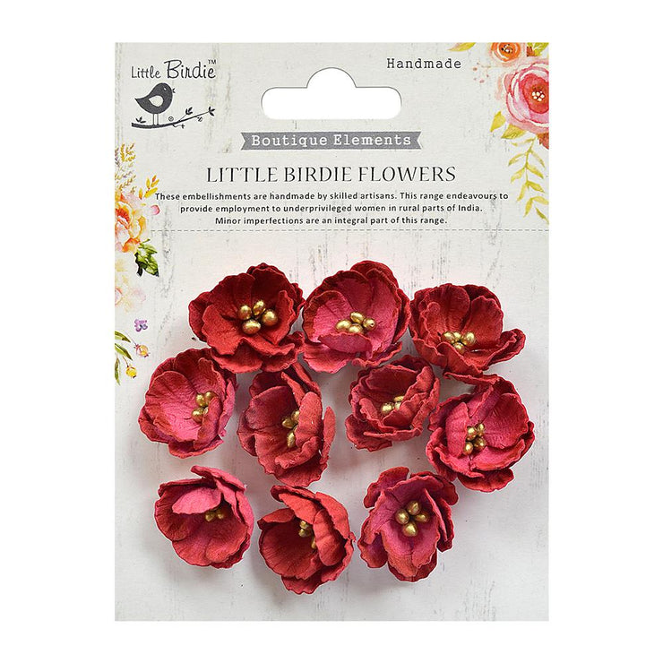Little Birdie Handmade Flower -  Embossed Daisies-  Candy Mix 10Pc