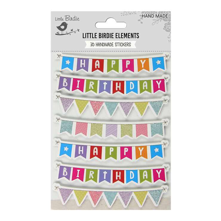 Happy Birthday Banners 7Pc