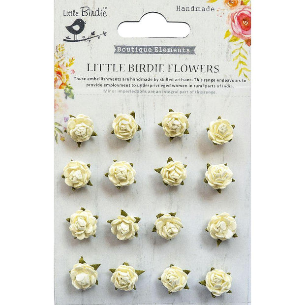 Beaded Micro Roses Moon Light 16pcs