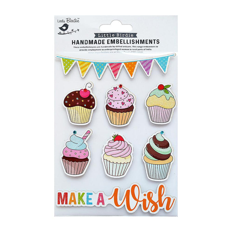 Make A Wish Self Adhesive Embellishment 8Pc