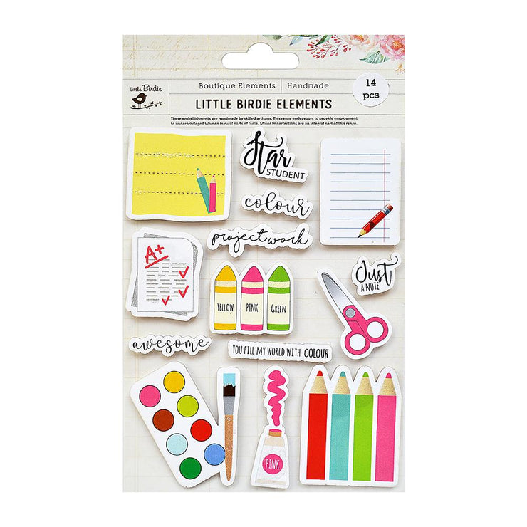 Star Student Sticker Embellishment 14Pc