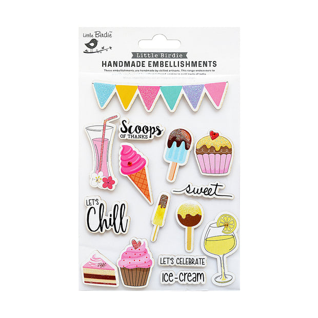 Scoops Of Thinks Sticker Embellishment 15Pc