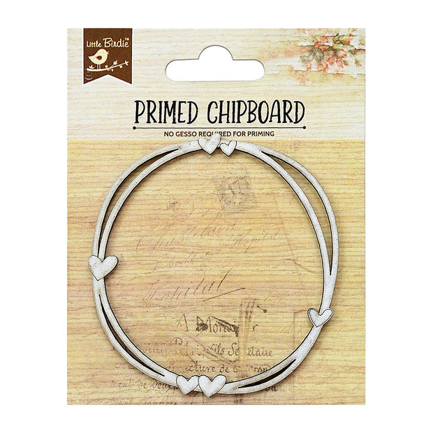 Primed Chipboard- Hearty Circle, 1pc