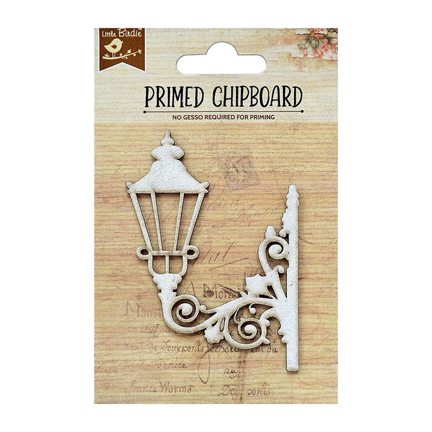 Primed Chipboard- Victorian Lamp, 1pc