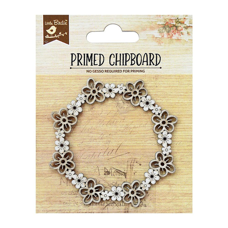 Primed Chipboard- Blooma Wreath, 1pc