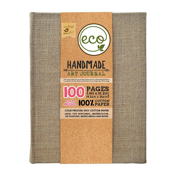 Handmade Art Journal - 220gsm 7.6inX10.2in, 100pages