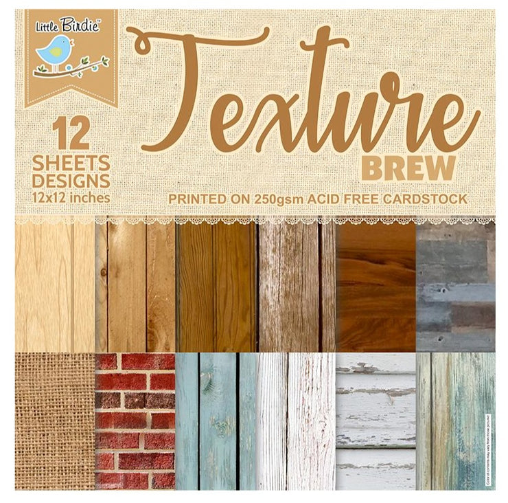 Texture Brew- 12in x 12in, 12sheets, 250gsm