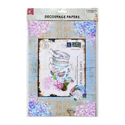 Decoupage Papers A4 - Post Perfect 2 Designs, 2 Sheets Each