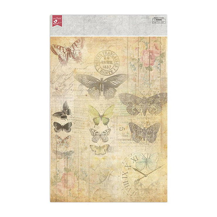 Decoupage Papers A4 - Butterfly Chronicle 2 Designs, 2 Sheets Each