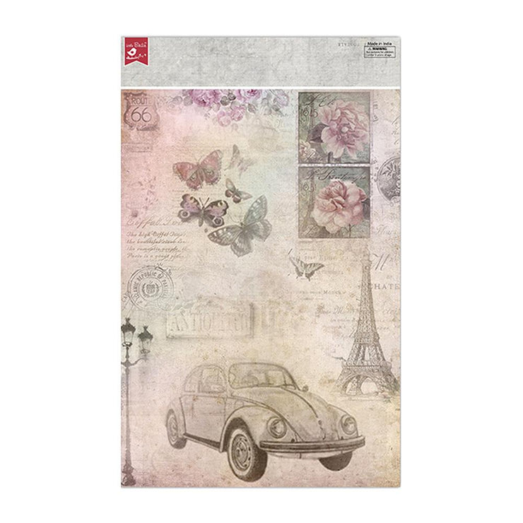 Decoupage Papers A4 - Antique Essence 2 Designs, 2 Sheets Each