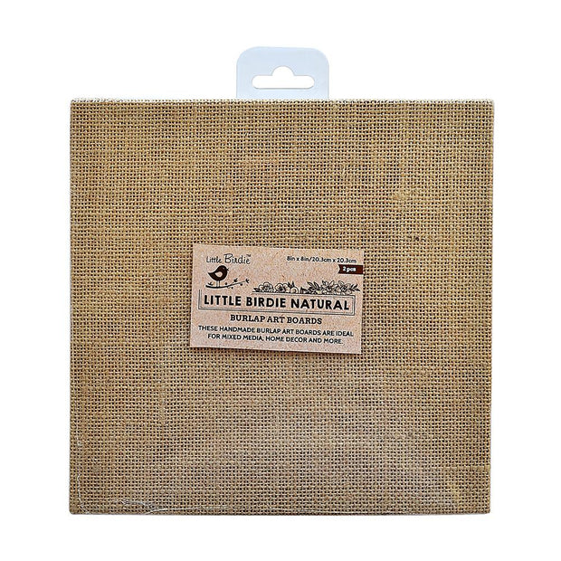 "Burlap MDF Art Board 8""X8""- 2Pc"