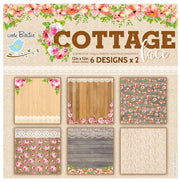Cottage Lace- 6 Design x 2, 12in x 12in, 12sheets, 250gsm