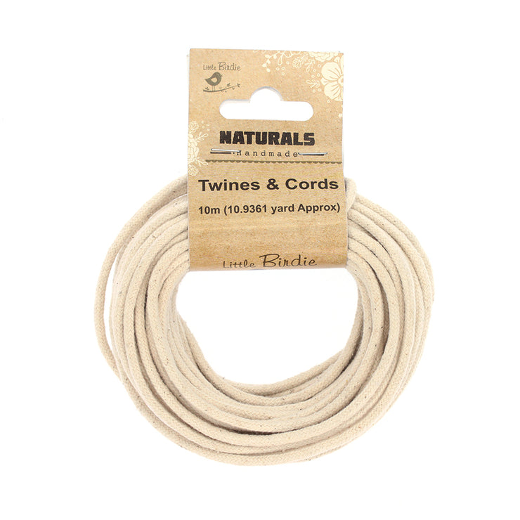 100% Cotton Twisted White Cord